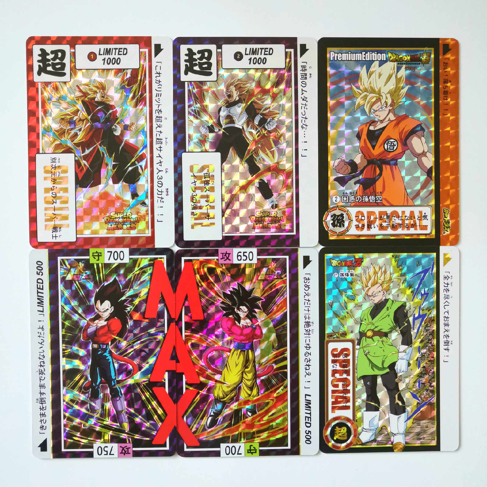 45pcs Brol Super Dragon Ball Heroes Battle Broli Gogeta Ultra Instinct Goku Vegeta Super Game Collection Anime Cards