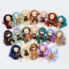 Фабрика мини blyth кукла 10 см красочные волосы цвет с случайным платье с челкой или без челки нормальное тело DIY модные игрушки
