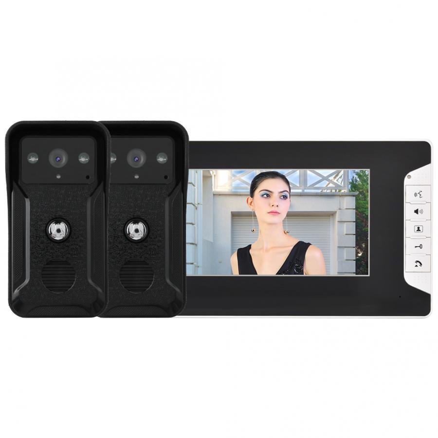 7inch Wired Video Doorbell Door Phone Intercom Night Vision Smart Security Doorbell Kit waterproof smart door bell motion sensor