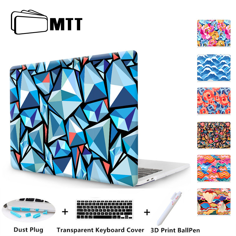 MTT Laptop Case For Macbook Pro Retina 13 15 inch Touch Bar Rhombus Printed Cover Shell For Macbook Air Pro 11 12 13 a1707 a1708 sea flowers leaves lifebuoy shell stars for macbook air 13 printed case air 11 12 hard cover for macbook pro retina 13 15 cases