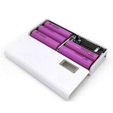 Banco de Potência Carregador de Bateria Caixa de KIT sem Bateria 5×18650 DIY Caso Caixa Portátil Display LCD Dupla USB 18650