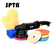 SPTA polijstmachine 5 Inch dual action polijstmachine Auto Polijstmachine Tool Auto Mini Pad Orbitale Auto Polish Machine Wax Sander DA 15mm(China)