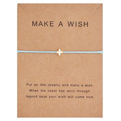 Регулируемый браслет с бумажными карточками в форме бабочки, звезды, короны, Круглый тканый браслет ручной работы, Простые Модные женские ювелирные изделия, подарки - Окраска металла: 14