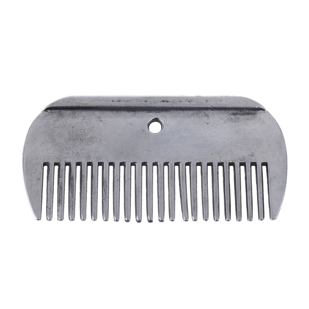 Stainless Steel Polished Horse Pony Grooming Comb Tool Currycomb Accessories