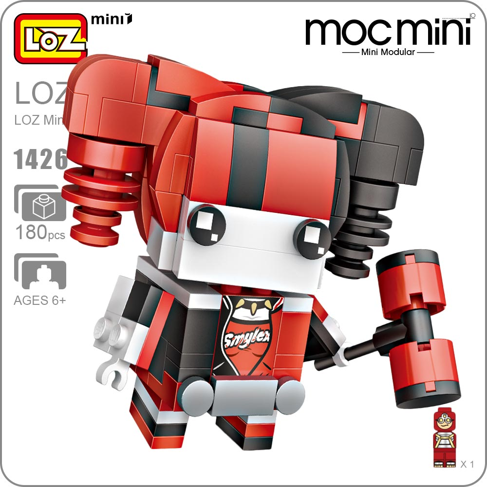 LOZ Mini Blocks Character Superhero Action Figure Girls Brick DIY Dolls Building Assembly Toy Super Hero Educational Brick 1426 loz mini blocks bloques harley quinn figure action harleen quinzel suicide squad joker girls brick heads diy dolls building 1426