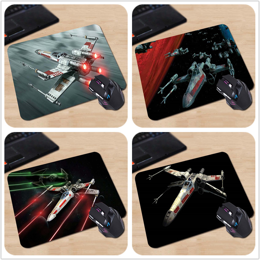 X kanat yıldız savaşları Dikdörtgen Kaymaz Dizüstü PC Fare Pedi Mouse Paspaslar