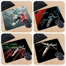 New High Quality Large Rubber x wing star wars Rectangle Anti-Slip Laptop PC Mice Pad Mouse Mats 18*22cm and 25*29cm