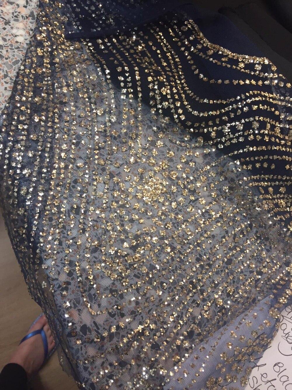 De moda de Cyndi 588 de tul bordado francés net tela de encaje con pegados brillo para vestido de fiesta-in encaje from Hogar y Mascotas    1