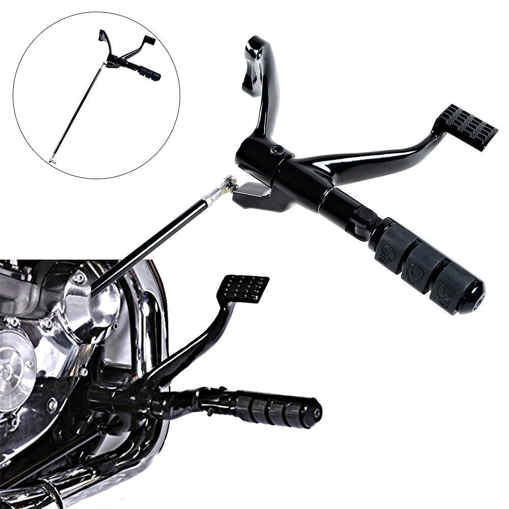BLACK Forward Controls Pegs Levers Linkages For Harley Sportster 883 XL883 Iron XL883N Custom XL883C Super