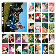 30Pcs/set KPOP EXO 08 THE WAR Album Photo Card PVC Cards Self Made LOMO Card Photocard new 40pcs set kpop blackpink lomo photo card pvc cards self made card photocard