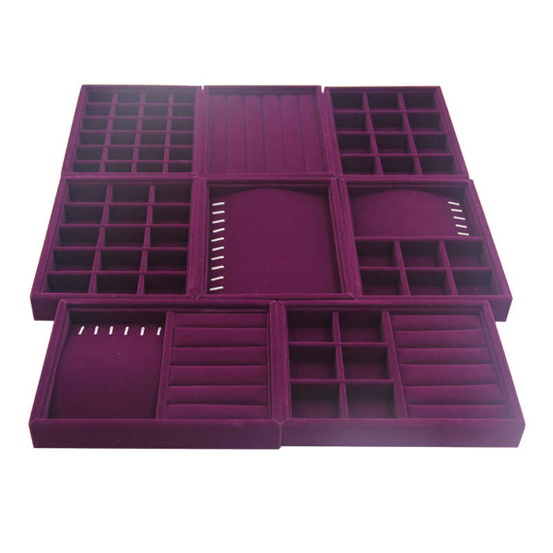 200*150*30mm Purple Velvet Jewelry Stock Tray display