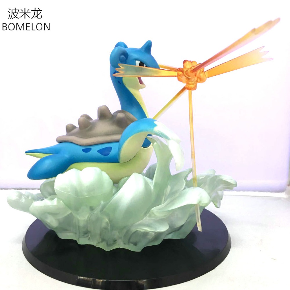 Kawaii Lapras Anime Figurines Lokhlass Action toy Figures Dragon Model Brinquedos Kids Toys For Boys Birthday Christmas Gift 7cm large size jp hand done animation crystal dragon ball set genuine model toy gift action figures anime toys kids