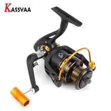 KASSYAA Spinning Fishing Reel 5.2:1 12+1BB Max Drag 14kg Handedness Swap Gapless Multiaxis Metal For Bass