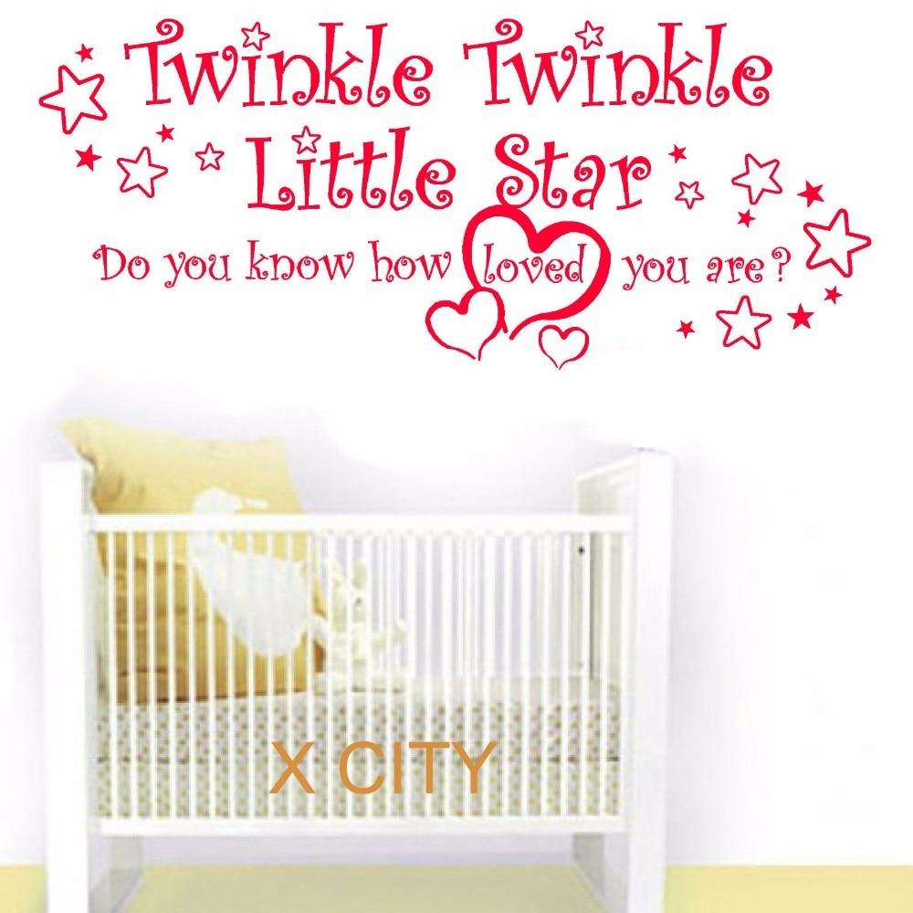 online get cheap baby wall stencils aliexpress com alibaba group twinkle twinkle little star wall art sticker vinyl transfer decal door window for baby room stencil