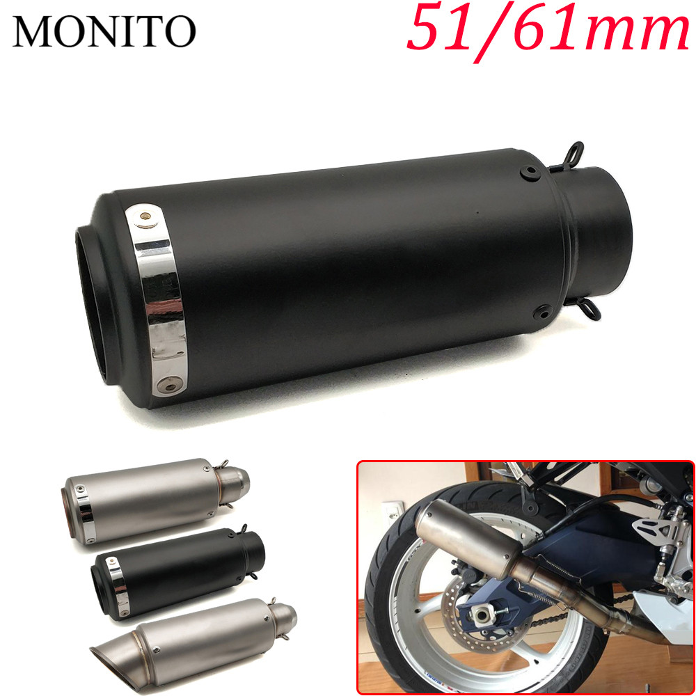 hight resolution of universal motorcycle sc exhaust escape modified exhaust muffler db killer for yamaha fz8 fz6 xsr700 xsr900 xsr 900 xv950 xv 250 in exhaust exhaust systems