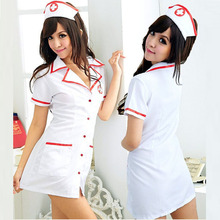 2017 Sexy Nurse Costume Set Fantasias sexy erotic Cosplay Costume Nurse Uniform Tempt V-Neck Dress bucaneras mujer AAQQE082
