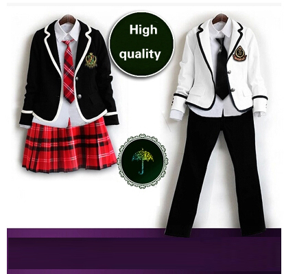 British korean japanese school uniform men and women winter clothing for school uniforme escolar costume for girl and boy 5 sets