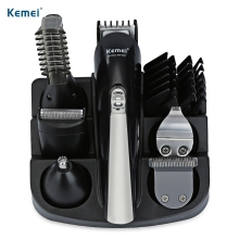 купить KEMEI KM-600 6 in 1 Hair Clipper Waterproof Hair Trimmer Nose Beard Trimmer Electric Shaver for Men Razor Shaving Machine по цене 1992.36 рублей