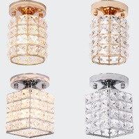 YOOK 2018 Square Round Ceiling Lamp Bedroom for Dining Room for Living Room LED Ceiling Lamp Crystal Ceiling Lamp E27 110V 220V