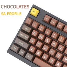 Шоколадный профиль SA r1 r2 r3 гравированные лазерные цветные шрифты PBT колпачок клавиш для проводной USB механической клавиатуры Cherry MX переключатели клавиши