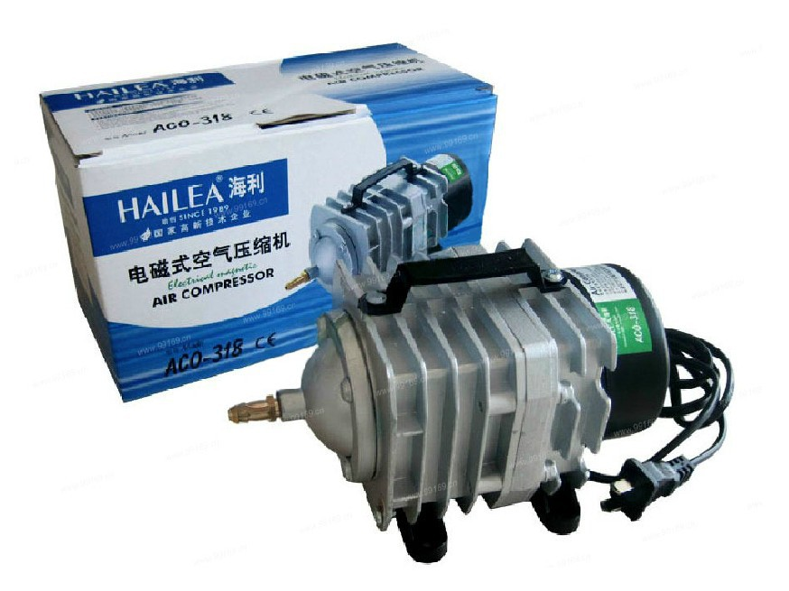 NEW 70L/min 45W Hailea ACO-318 Electromagnetic Air Compressor,aquarium air pump Fish Tank pond Hydroponic Oxygen Air Pump