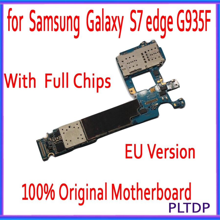 Carte mère officielle de téléphone de Version de l'ue pour la carte mère de Samsung Galaxy S7 edge G935F G935FD avec la carte mère de puces IMEI Android OS