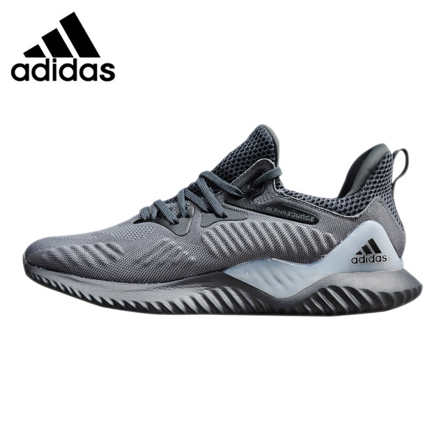 Adidas Alphabounce Beyond Men s Running Shoes Original Sports Outdoor Sneakers  Shoes Grey Dark Grey Breathable CG4765 CZ4762-in Running Shoes from Sports  ... c08855c3b