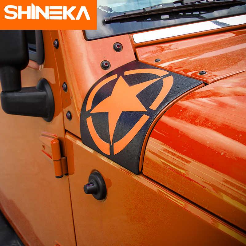 SHINEKA автомобильный стикер для Jeep Wrangler JK 2007-2017 ABS Star авто вытяжки угол обёрточная Крышка для Jeep JK Wrangler аксессуары