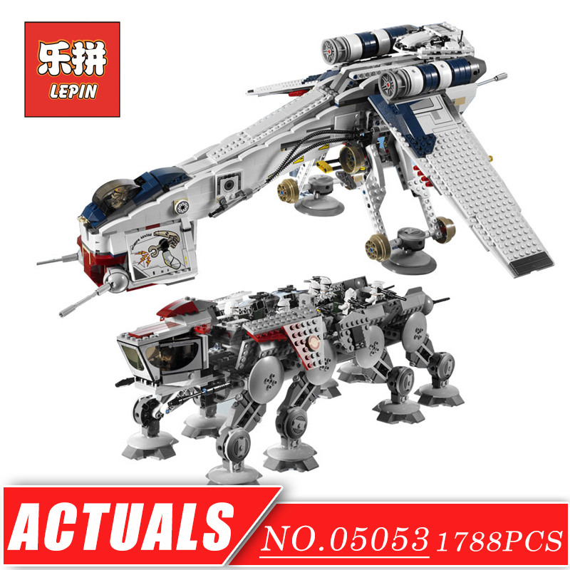 LEPIN 05053 Stars Series War the Republic Dropship DIY Warship Model Building Kits Blocks Bricks with Figures Children Toys Gift herbert george wells the war of the worlds