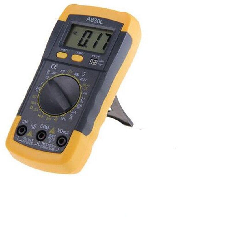 Hand Held Ohmmeter : Electric handheld lcd digital multimeter ammeter voltmeter