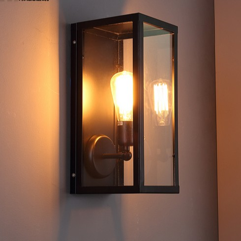 Retro Loft Style Edison Wall Sconce Industrial Vintage Wall Light For Home Antique Wall Lamp Indoor Lighting Luz De Pared glass wooden arm retro vintage wall lamp led edison style loft industrial wall light sconce home lighting appliques pared