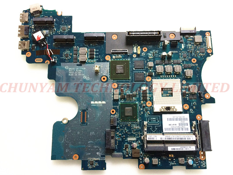 LA-7762P FOR DELL E6530 laptop motherboard CN-0GMVN7 GMVN7 Mainboard LA-7762P REV:1.0 PGA989 90Days Warranty 100% tested