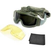 Askeri Airsoft taktik gözlük gözlük açık spor taktik güneş gözlüğü Paintball ordu Airsoft güvenlik taktik gözlük