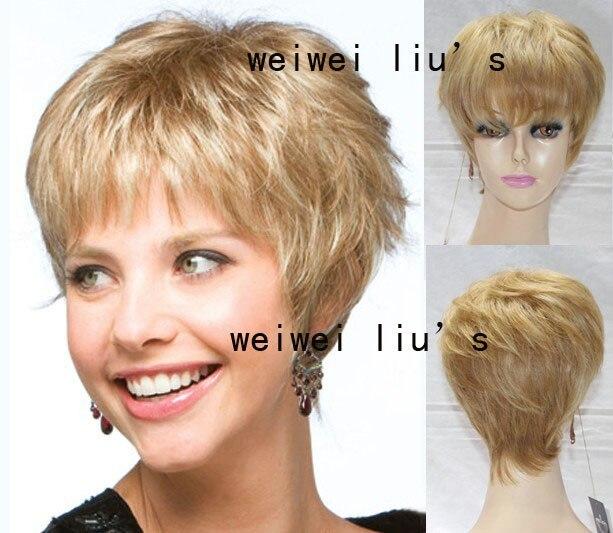 Włosy Peruki Krótkie Fryzury Brazylijski Włosy Peruka Blond Włosy
