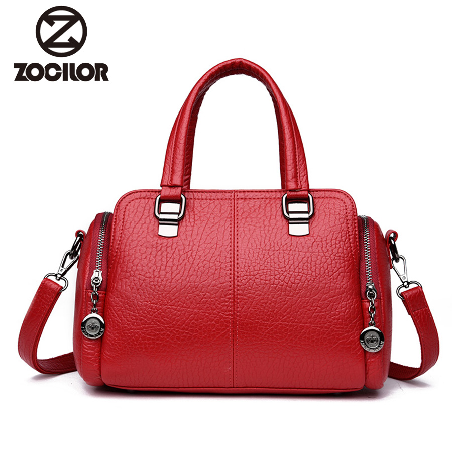 Women high quality pu Leather Handbags Vintage Messenger Bags Designer Crossbody Bag Women Tote Shoulder Bag Top-handle Bags women fur handbags 2018 high quality printing women bags women pu leather shoulder messenger bags sweet tote bag bolsa lb340