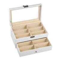 12 Grids Double Layer Glasses Storage Box Portable Makeup Organizers