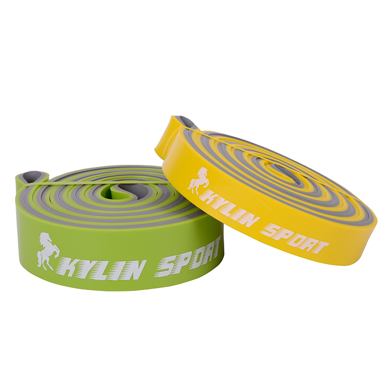 Yellow and Green Set Resistance Bands Exercise Fitness Tube