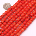 7x6mm Column shape Red Coral beads natural coral beads loose bead for jewelry making beads Strand 15 inches wholesale !