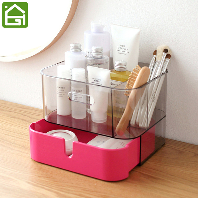 Large Capacity Stylish Acrylic Cosmetic Jewelry Organizer Box Multi
