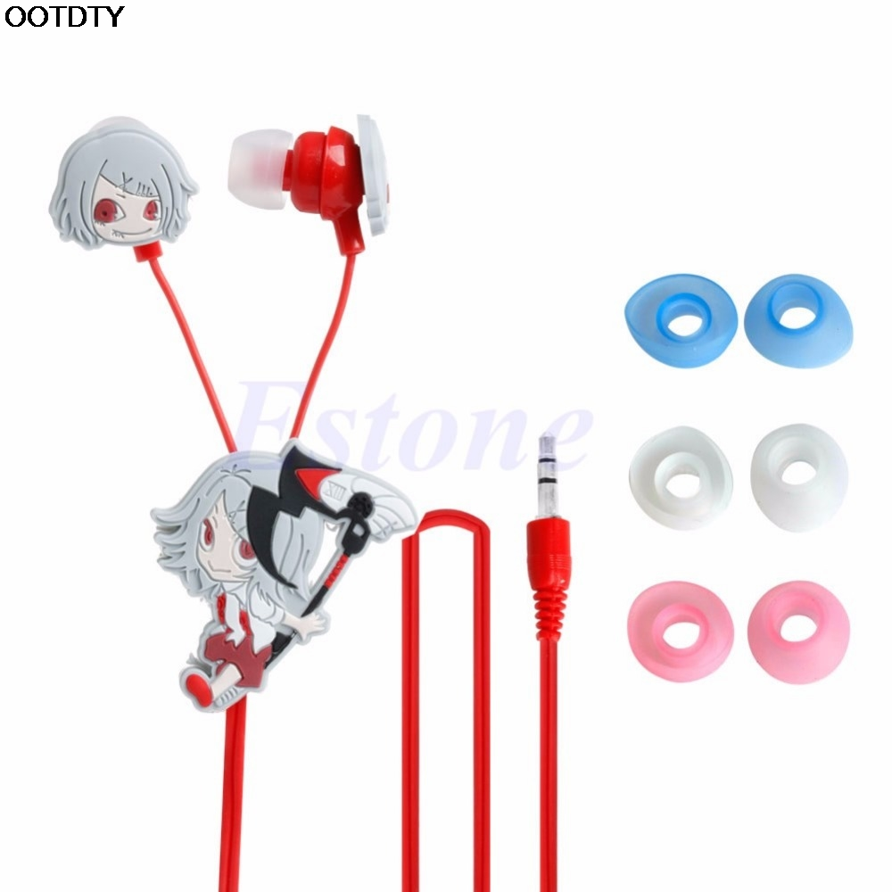 Anime Tokyo Ghoul Kaneki Ken Earphone For Xiaomi Cute Earbuds Headphones Headse