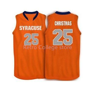 25 Rakeem Christmas Syracuse Orange Basketball Jersey Embroidery