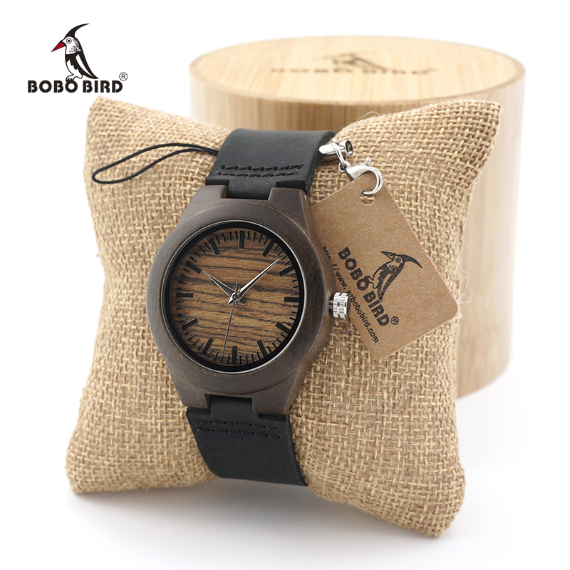 BOBO BIRD Womens Vintage Wood Bamboo Wooden Wrist Watch Ladies Girlds Top Brand Quartz Dress Watches custom logo in gifts box bamboo womens driven 77 casual wedge