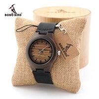 BOBO BIRD Womens Vintage Wood Bamboo Wooden Wrist Watch Ladies Girlds Top Brand Quartz Dress Watches