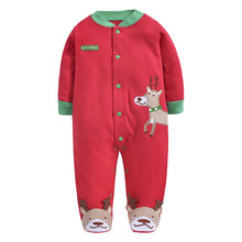 Christmas Baby Rompers Santa Newborn body suits Xmas babywears Overall Clothes W156