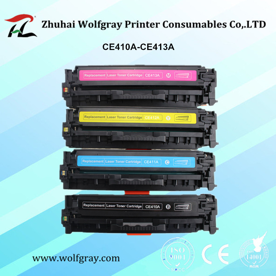 Compatible <font><b>305A</b></font> toner cartridge for <font><b>HP</b></font> CE410A CE411A CE412A CE413A LaserJet Pro 300 color MFP M375nw/M475dn/400/M451nw/M471dn image