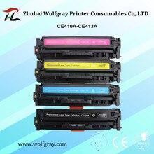 תואם מחסנית טונר עבור HP CE410A 305A CE411A CE412A CE413A LaserJet Pro 300 הצבע MFP M375nw/M475dn/400/M451nw/M471dn