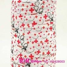 Hair-Tie N-Ribbon Over-Elastic-Foe Nurse Lace 50yds/Roll Wholesale/oem Q Or Folded Folded