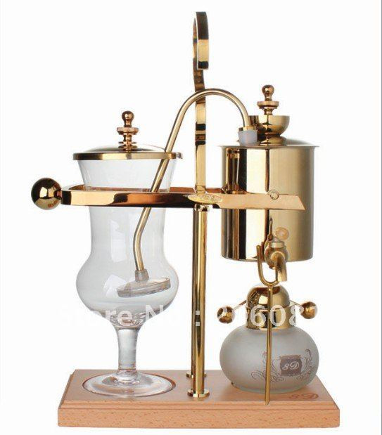 8D Belgium Royal coffee maker(TECH)/Siphon coffee machine,blancing coffee pot with competitve price and good quality delicate and creative coffee pot
