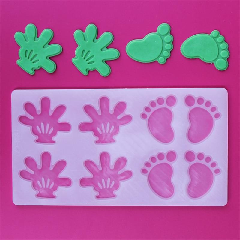 İsti kiçik əllər ayaq şokoladlı konfet Jello 3D silikon kalıp - Mətbəx, yemək otağı və barı - Fotoqrafiya 2