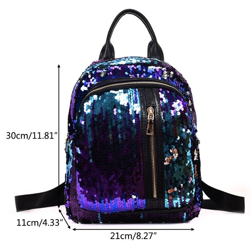 THINKTHENDO Women Girls Sequins Mini Backpack for 2018 Travel School Backpack Rucksack Bookbag Shoulder Bags for Girl 3